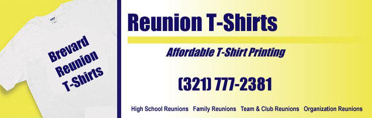 High School Reunion T Shirt Printing Brevard County Satellite High